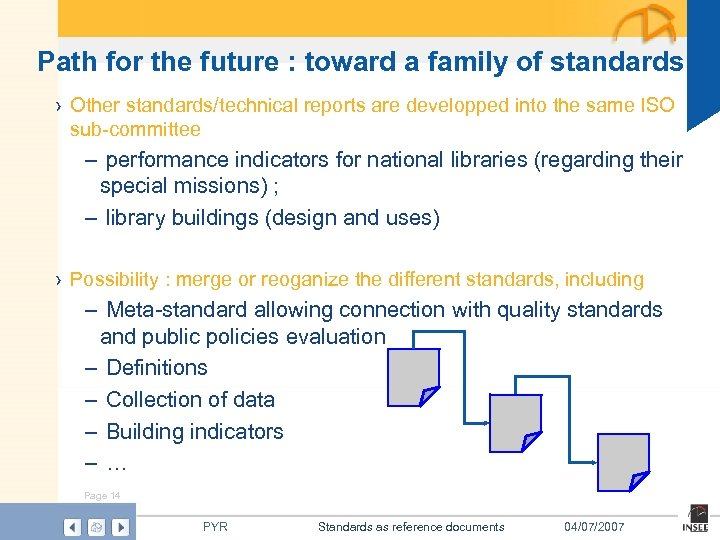 Path for the future : toward a family of standards › Other standards/technical reports