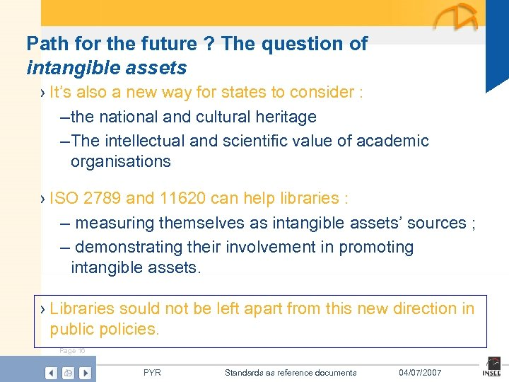 Path for the future ? The question of intangible assets › It's also a