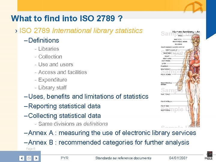 What to find into ISO 2789 ? › ISO 2789 International library statistics –
