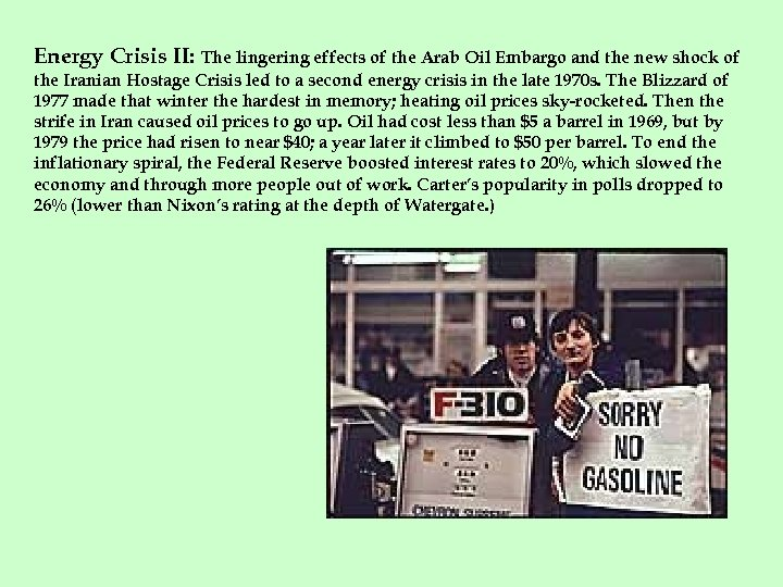 Energy Crisis II: The lingering effects of the Arab Oil Embargo and the new