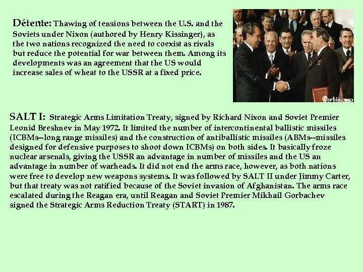 Détente: Thawing of tensions between the U. S. and the Soviets under Nixon (authored