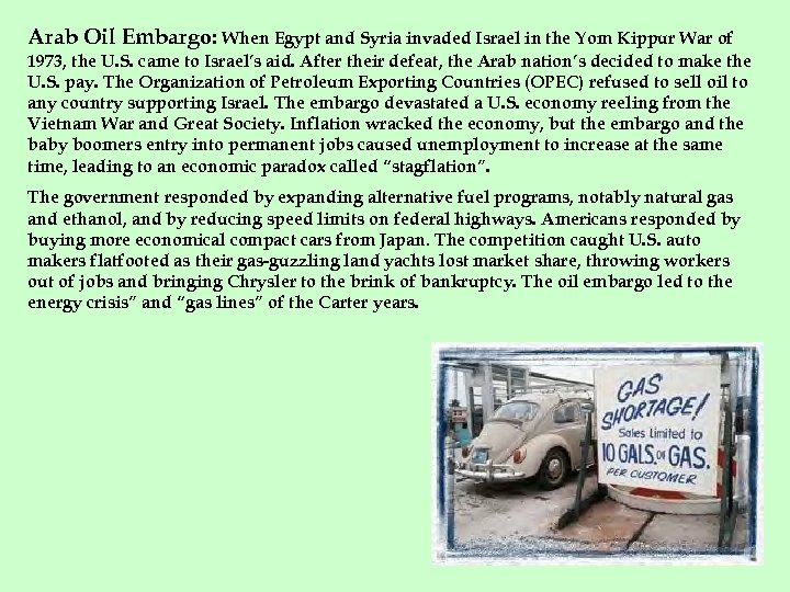 Arab Oil Embargo: When Egypt and Syria invaded Israel in the Yom Kippur War