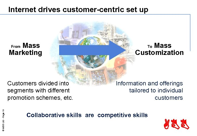 Internet drives customer-centric set up Mass Marketing From © ABB Ltd - Page 19