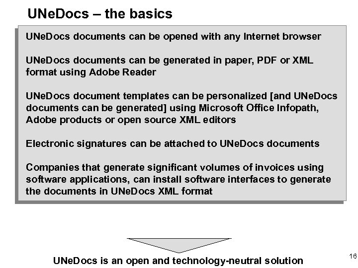 UNe. Docs – the basics UNe. Docs documents can be opened with any Internet
