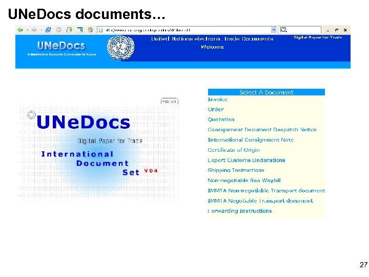 UNe. Docs documents… 27