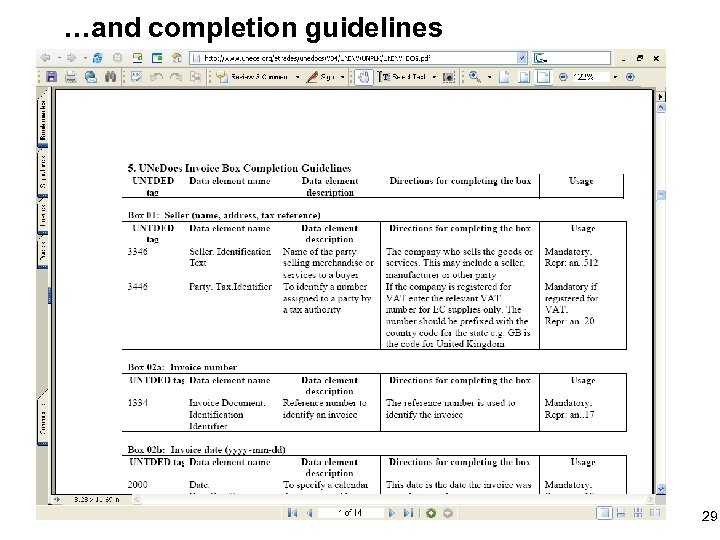 …and completion guidelines 29