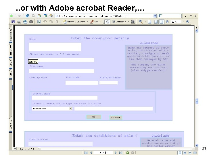 . . or with Adobe acrobat Reader, … 31