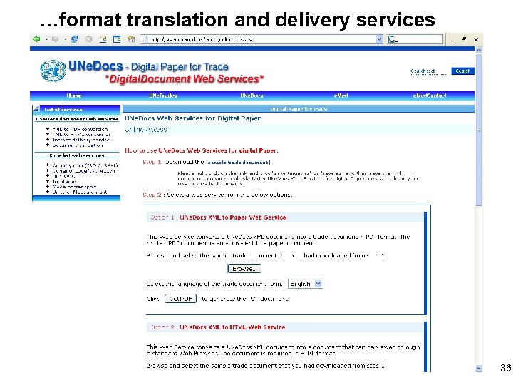 …format translation and delivery services 36