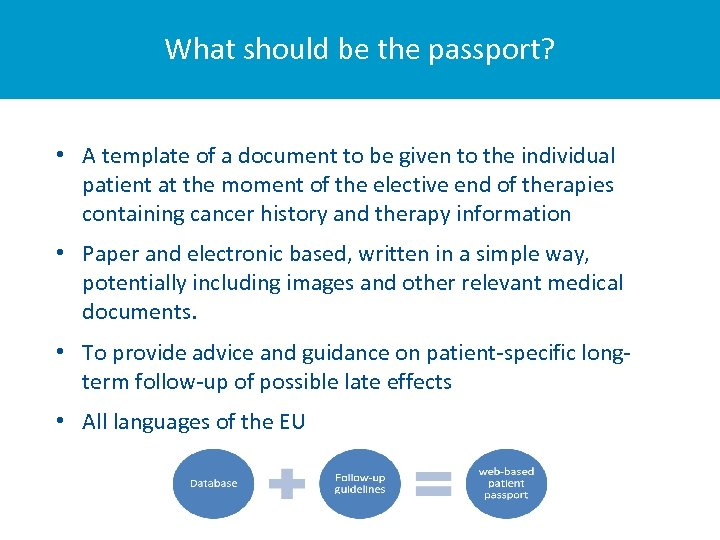 What should be the passport? • A template of a document to be given