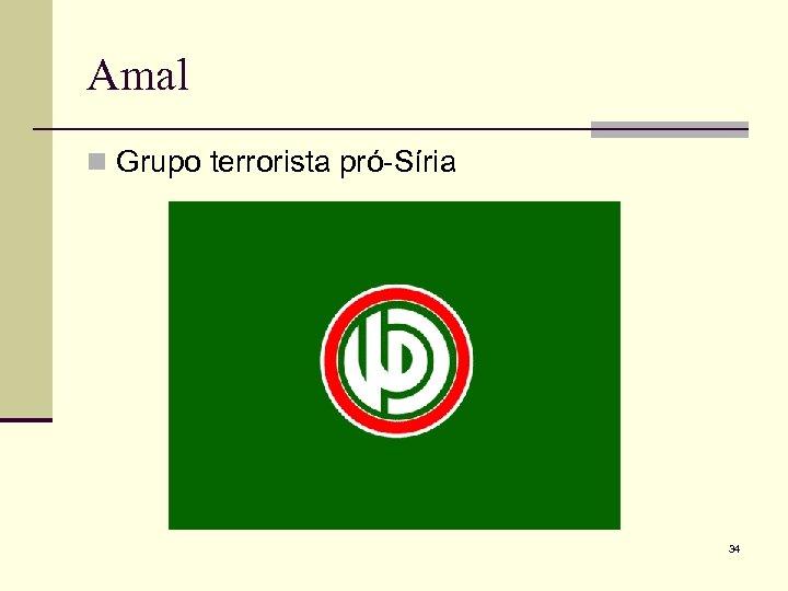 Amal n Grupo terrorista pró-Síria 34