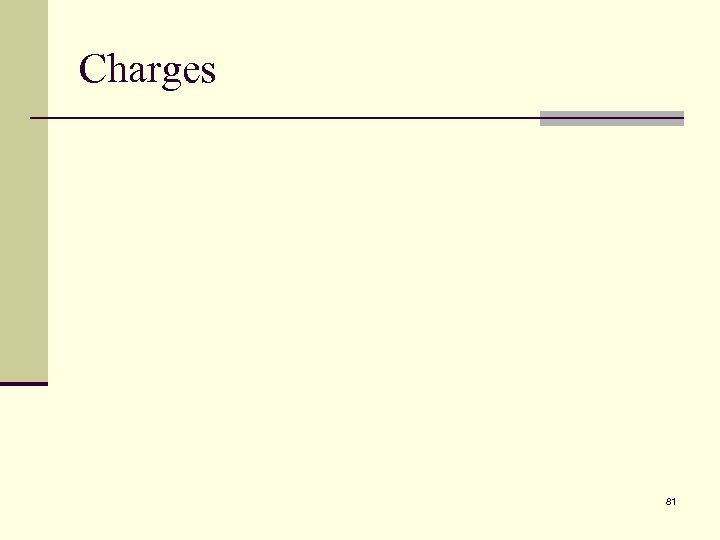 Charges 81