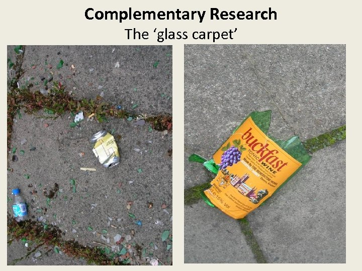 Complementary Research The 'glass carpet'