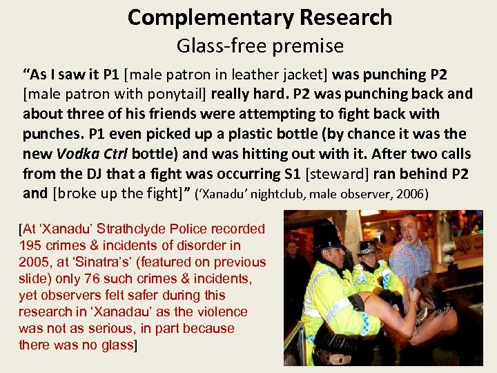 """Complementary Research Glass-free premise """"As I saw it P 1 [male patron in leather"""
