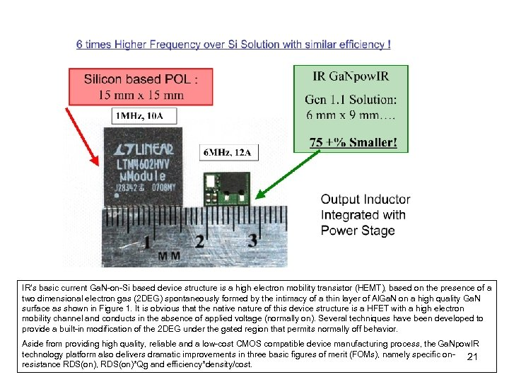 IR's basic current Ga. N-on-Si based device structure is a high electron mobility transistor