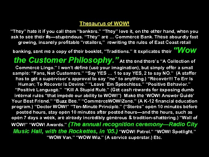 """Thesaurus of WOW! """"They"""" hate it if you call them """"bankers. """" """"They"""" love"""