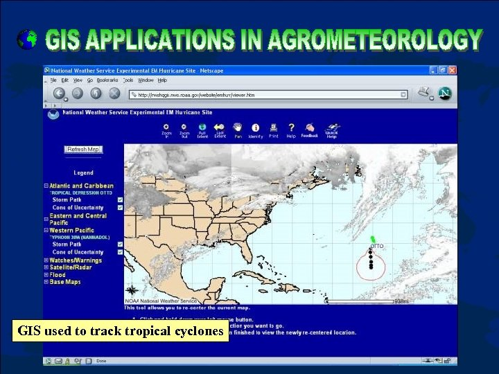 GIS used to track tropical cyclones