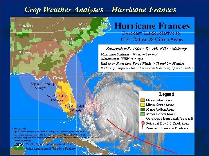 Crop Weather Analyses – Hurricane Frances