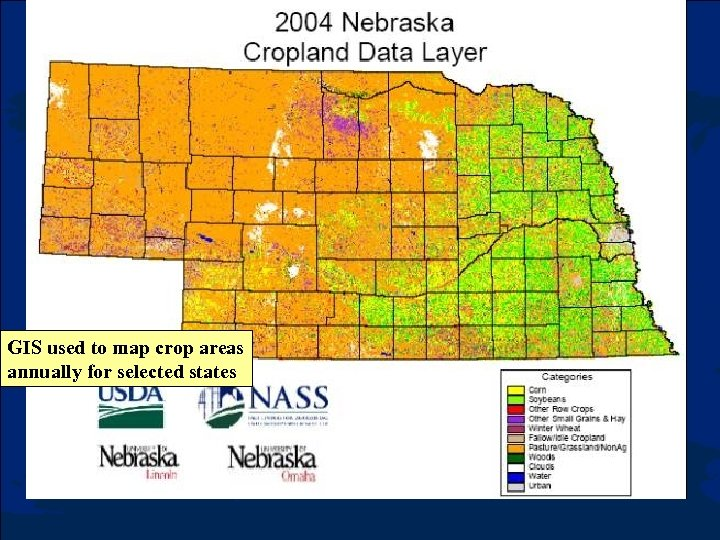 GIS used to map crop areas annually for selected states
