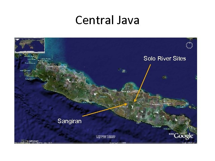 Central Java Solo River Sites Sangiran