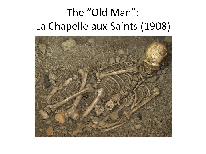 "The ""Old Man"": La Chapelle aux Saints (1908)"