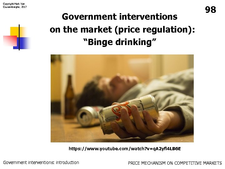 """Copyright Mark Van Couwenberghe, 2017 Government interventions on the market (price regulation): """"Binge drinking"""""""