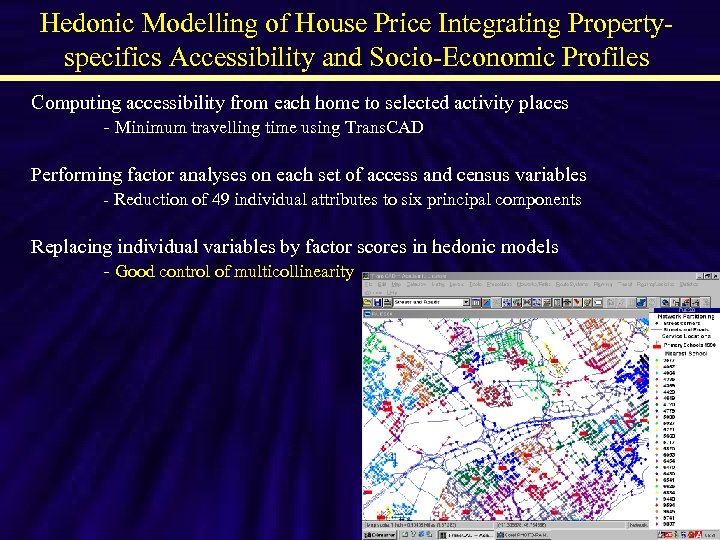 Hedonic Modelling of House Price Integrating Propertyspecifics Accessibility and Socio-Economic Profiles Computing accessibility from