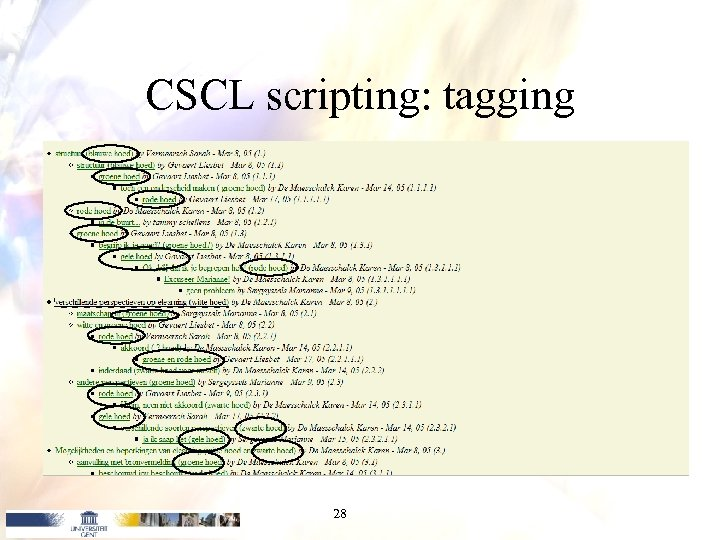 CSCL scripting: tagging 28