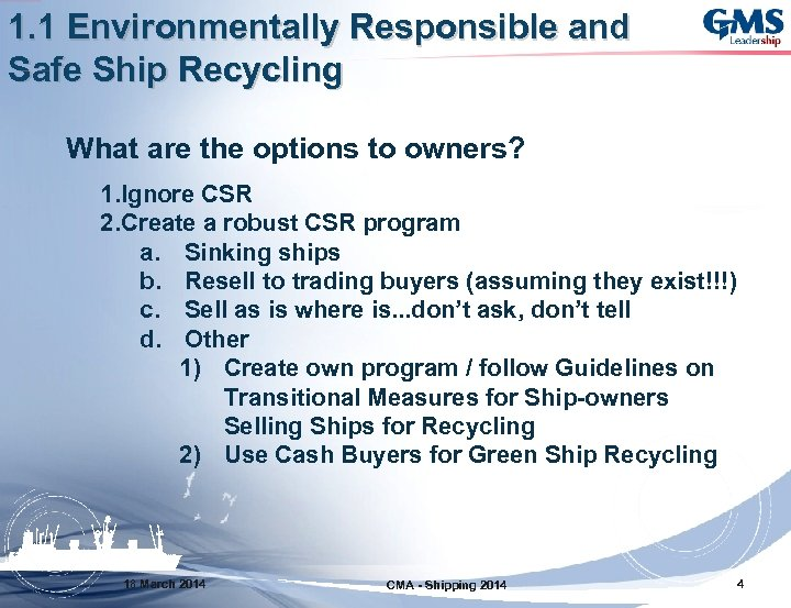 Green Ship Recycling Evan F Sproviero Trader