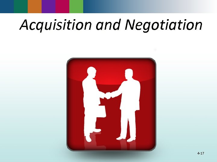 Acquisition and Negotiation 4 -17