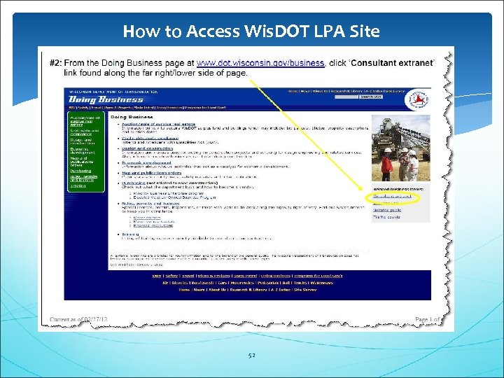 How to Access Wis. DOT LPA Site 52