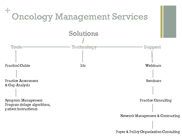 + Oncology Management Services Solutions Tools Practical Guide Practice Assessment & Gap Analysis Symptom