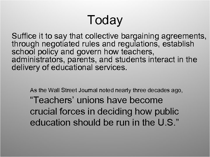 Today Suffice it to say that collective bargaining agreements, through negotiated rules and regulations,