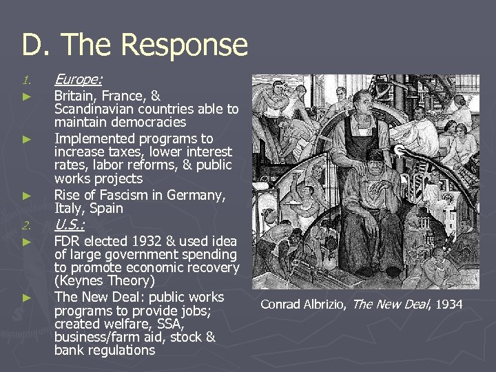 D. The Response 1. ► ► ► 2. ► ► Europe: Britain, France, &