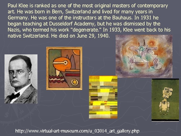 Paul Klee is ranked as one of the most original masters of contemporary art.