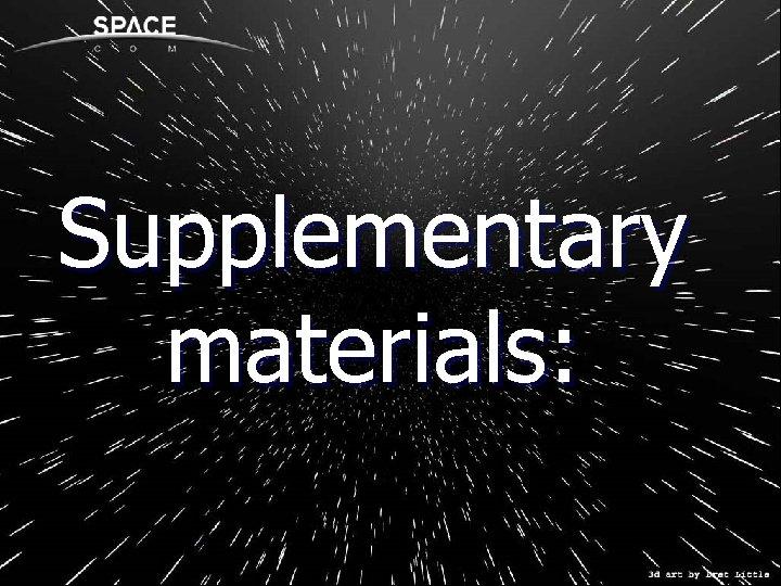 Supplementary materials: