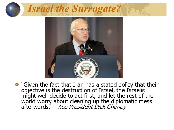 Israel the Surrogate?