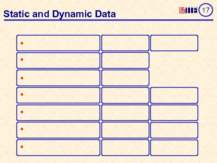 Static and Dynamic Data 17