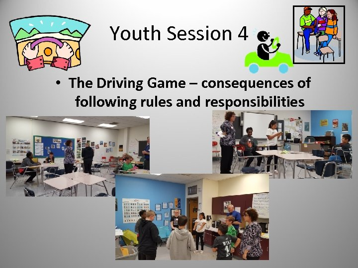 Youth Session 4 • The Driving Game – consequences of following rules and responsibilities