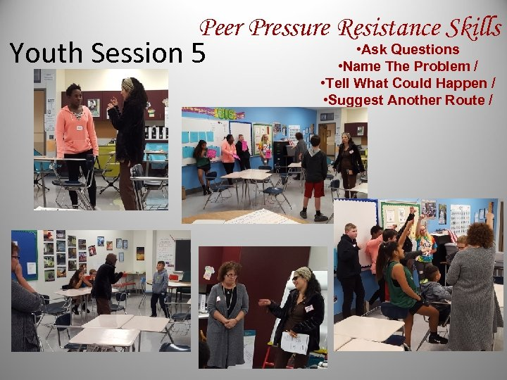 Peer Pressure Resistance Skills Youth Session 5 • Ask Questions • Name The Problem
