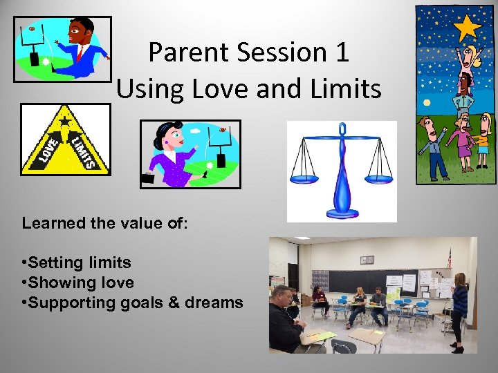 Parent Session 1 Using Love and Limits Learned the value of: • Setting limits