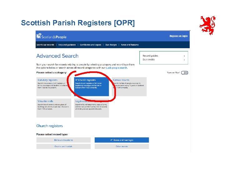 Scottish Parish Registers [OPR]