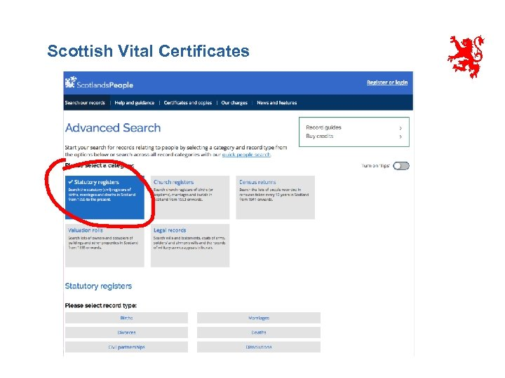 Scottish Vital Certificates
