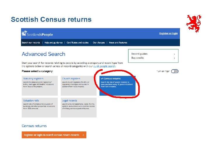 Scottish Census returns