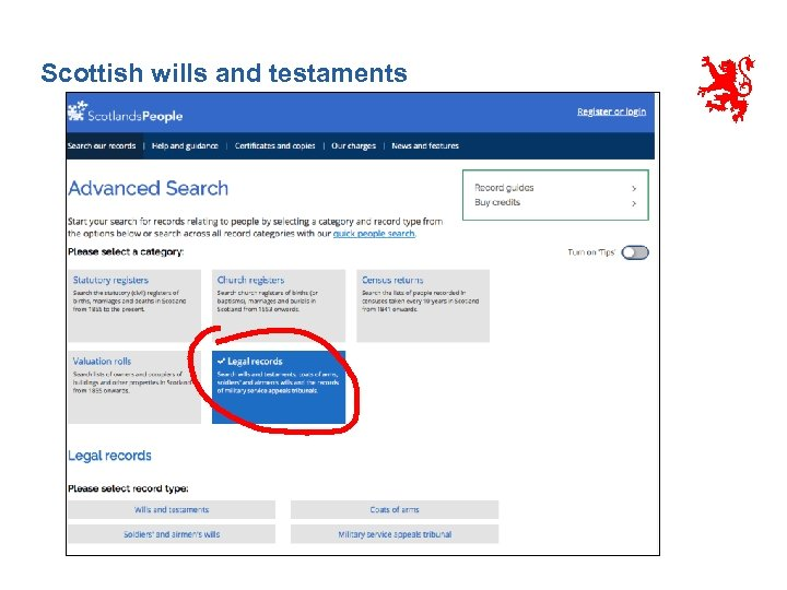 Scottish wills and testaments