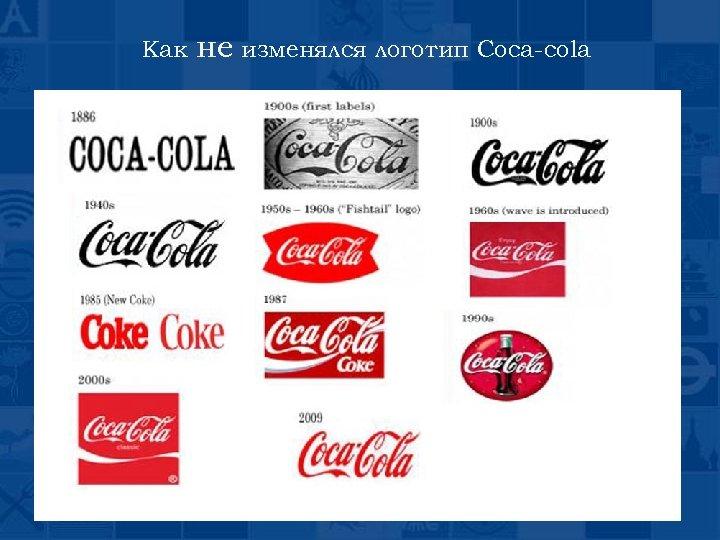 Как не изменялся логотип Coca-cola