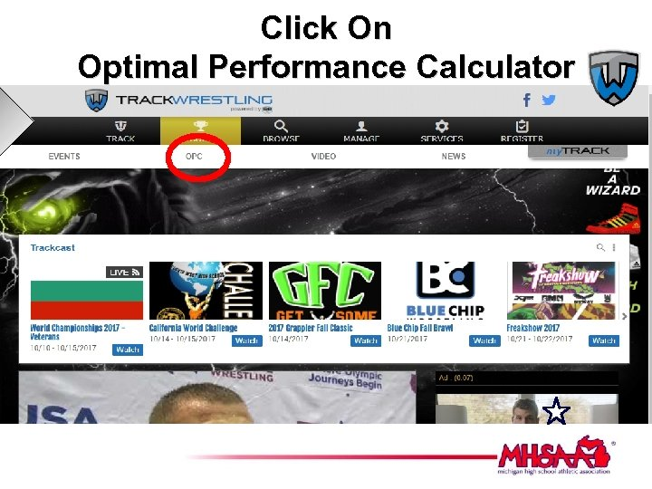 Click On Optimal Performance Calculator
