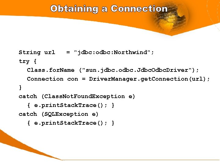 Obtaining a Connection String url =
