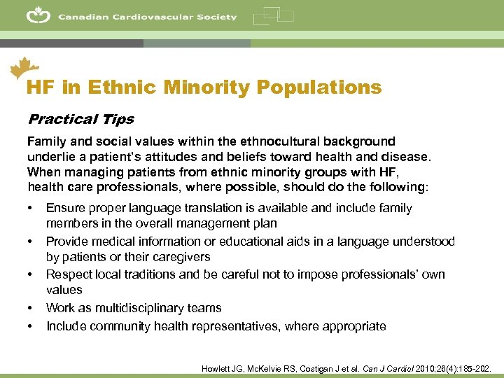 10 HF in Ethnic Minority Populations Practical Tips Family and social values within the