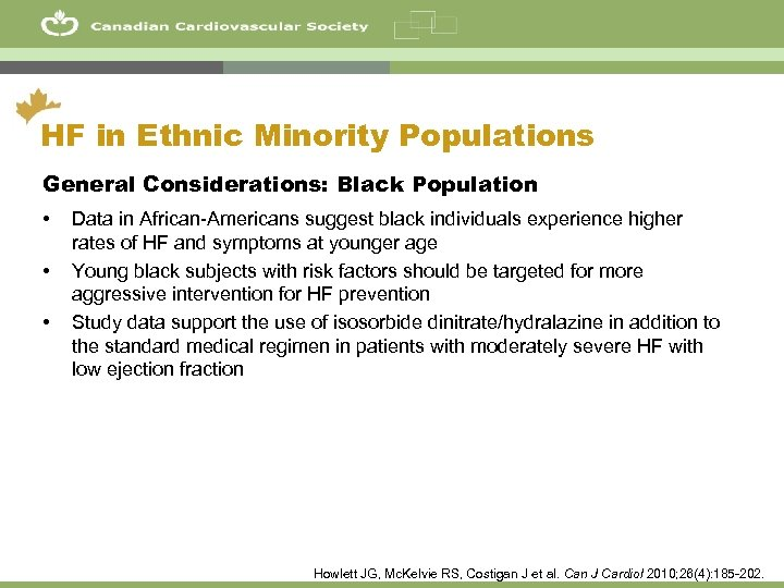 15 HF in Ethnic Minority Populations General Considerations: Black Population • • • Data