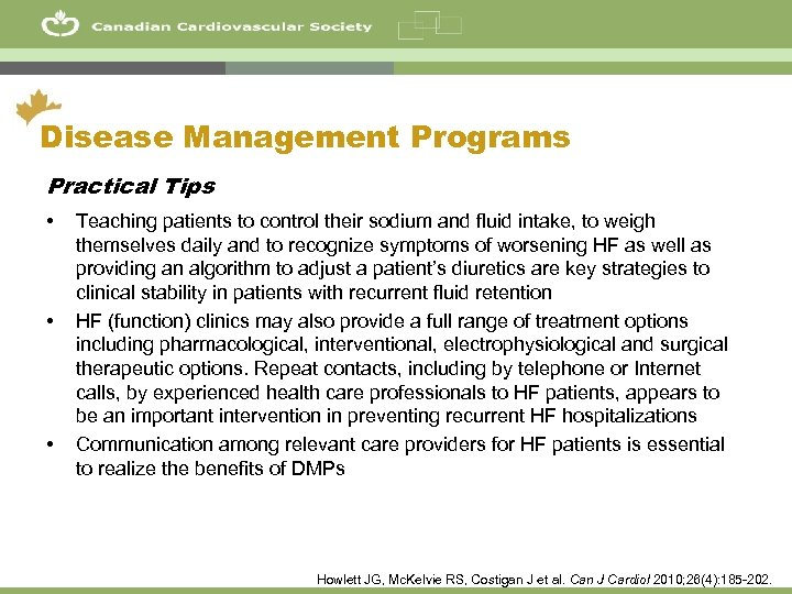 46 Disease Management Programs Practical Tips • • • Teaching patients to control their